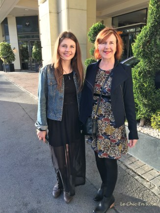 Outside Montreux Jazz Cafe - Mlle and Le Chic En Rose