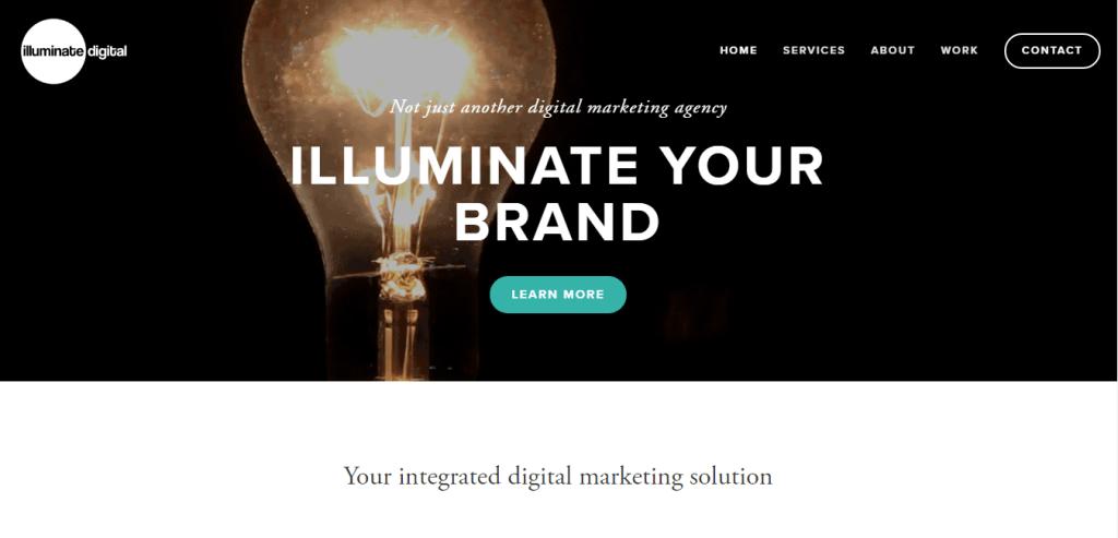 Illuminate Digital homepage1