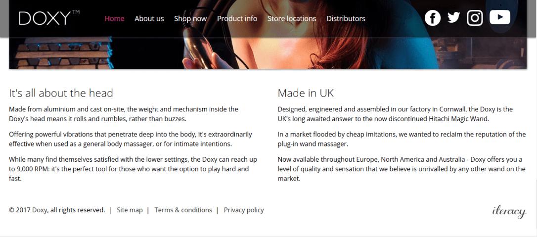 Doxy homepage