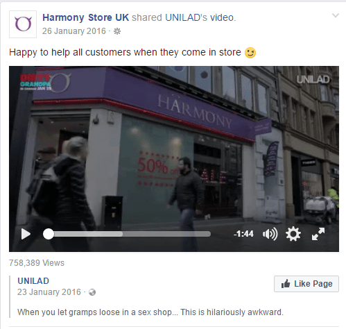 Harmony-FB-Unilad coverage
