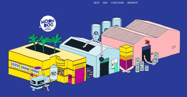 Moon Dog Brewery homepage image