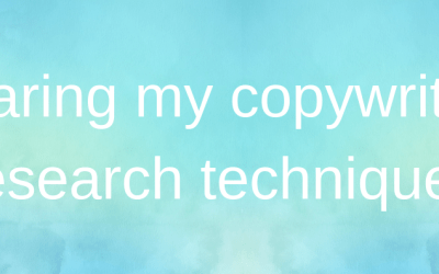 Sharing my copywriting research techniques