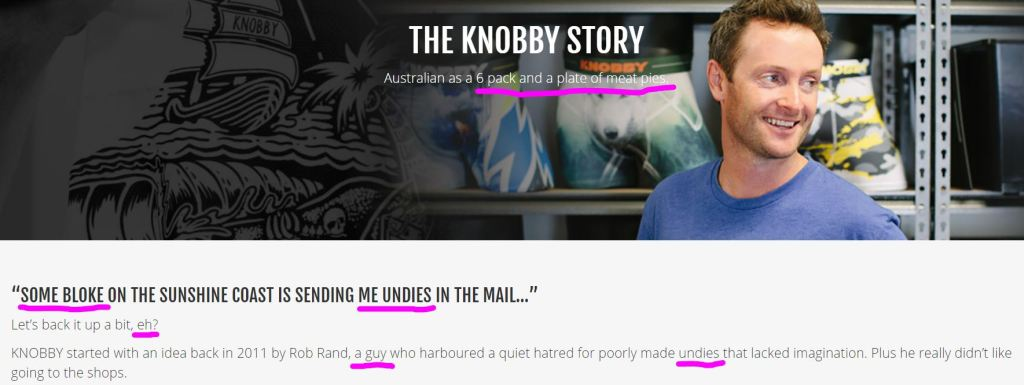 Knobbys-personality-copywriting-about-page