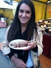 Kayla and her waffle