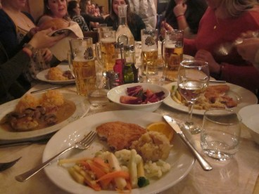 Traditional Slovenian dinner