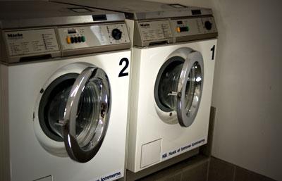 Fælles Miele vaskeri med Dankort betaling
