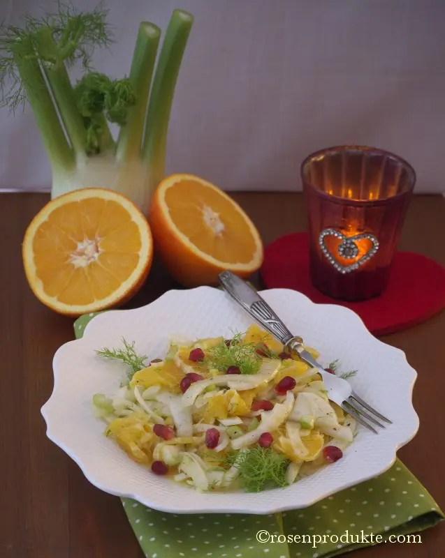 Fenchel und Orangen Salat
