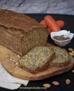 Eiweiss-Möhren-Brot mit Karotten