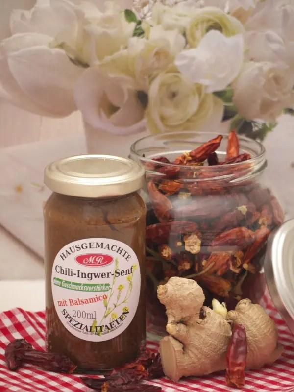 Chili-Ingwer-Senf für Chili Senf Butter