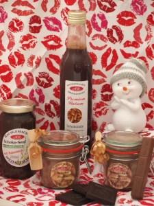 Schokoladen Frucht Essig  Set. Zubereitung der Fabelhafte, für Salate, zum Kochen und Backen, dunkle Sossen, Wild und Senf-Butter