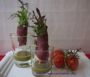 kreative Salatidee Schinkensalat im Glas