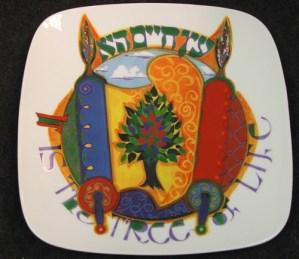 jewish-plate-art-treeoflife