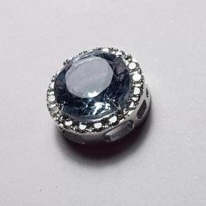 pandant aur acuamarin diamante