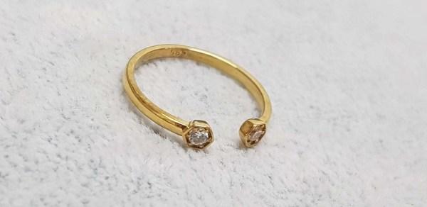 inel aur diamant