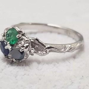 inel aur diamant safir smarald