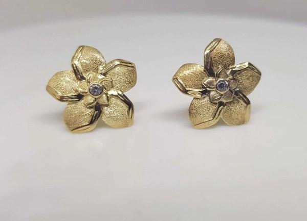 cercei aur safir diamant
