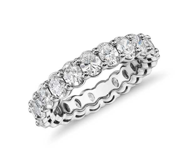inel eternity oval diamant
