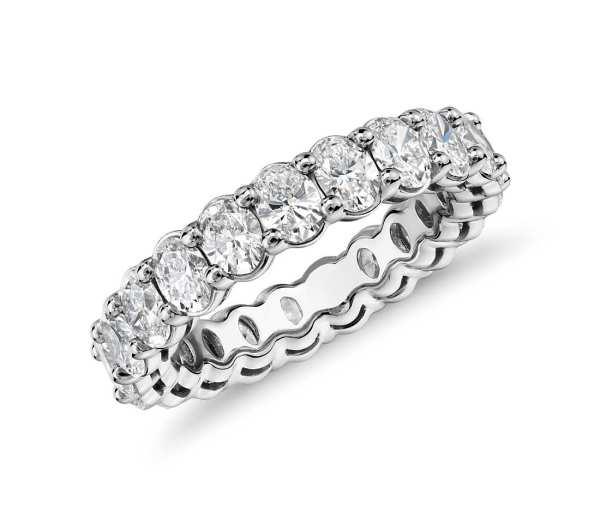 inel eternity oval diamant