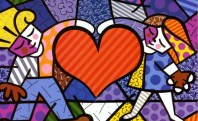 romero-britto-heart-kids-pop-art-artwork