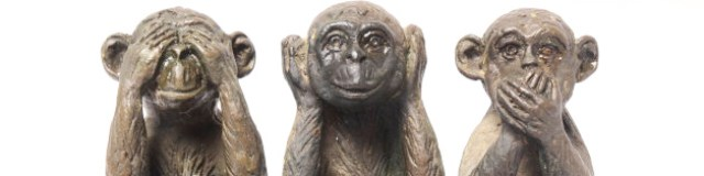 Three Monkeys Sculpture Hear Speak see