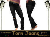 [RPC] Women ~ Black Torn Jeans
