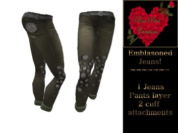 [RPC] Women ~ Emblasoned Jeans ~ Olive
