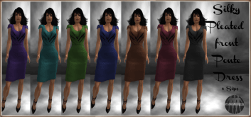 [RPC] Pleated Ponte Dress with HUD