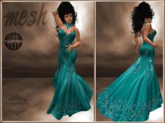 [RPC] MESH ~ Cyan Evening Gown