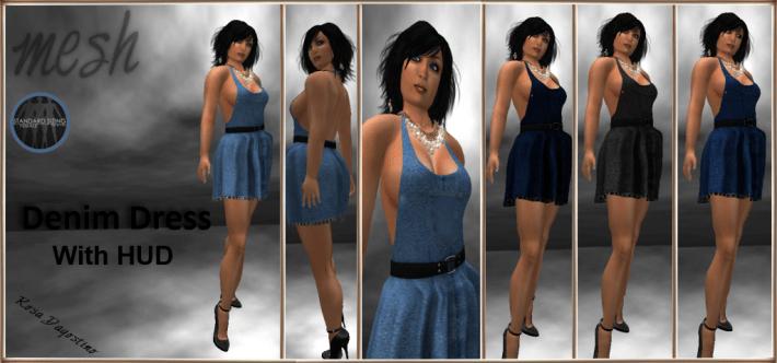 [RPC] MESH ~ Denim Dress with HUD