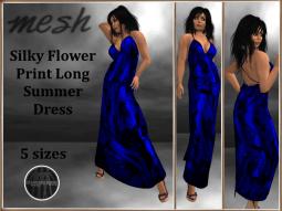 [RPC] Mesh ~ Flower Print Dress ~ Blue