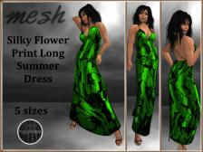 [RPC] Mesh ~ Flower Print Dress ~ Emerald