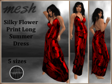 [RPC] Mesh ~ Flower Print Dress ~ Red