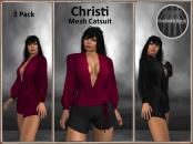 [RPC] MESH ~ Christi Catsuit ~ Berry&Black Pack