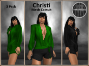 [RPC] MESH ~ Christi Catsuit ~ Emerald&Black Pack