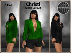 [RPC] MESH ~ Christi Catsuit ~ Emerald&Black Pack