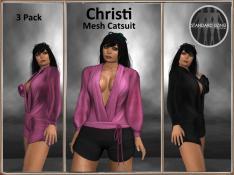 [RPC] MESH ~ Christi Catsuit ~ Pink&Black Pack