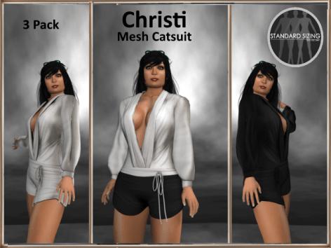 [RPC] MESH ~ Christi Catsuit ~ White&Black Pack