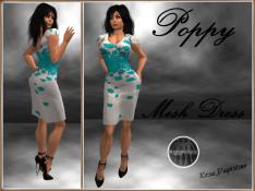 [RPC] MESH ~ Poppy Dress ~ Cyan