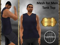 [RPC] Mesh for Men ~ Tank Top ~ Blue