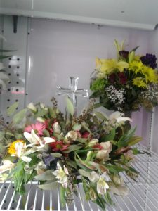 Crystal Cross Easter Flowers Arrangement
