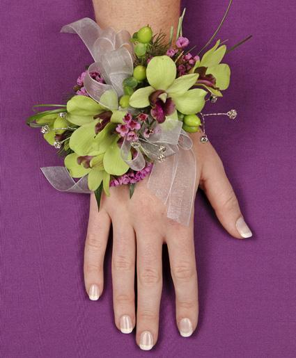 Glamorous Green Prom Corsage