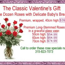 Valentine Roses at Rose Petals Florist Little Falls NY