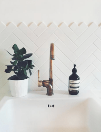 image of contemporary taps in a blog post