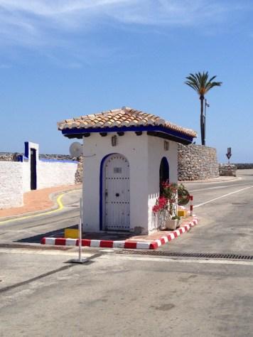 Land entrance to Marina