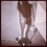 Roser Amills sesion de fotos pinup con siqui sanchez