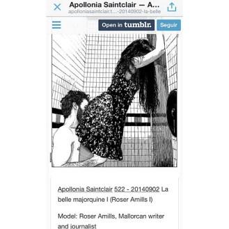 Apollonia Saintclair dibuja a Roser amills a partir de una foto