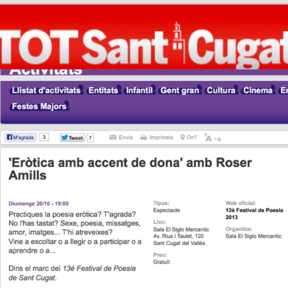 roser amills sant cugat festival de poesia de sant cugat 2013