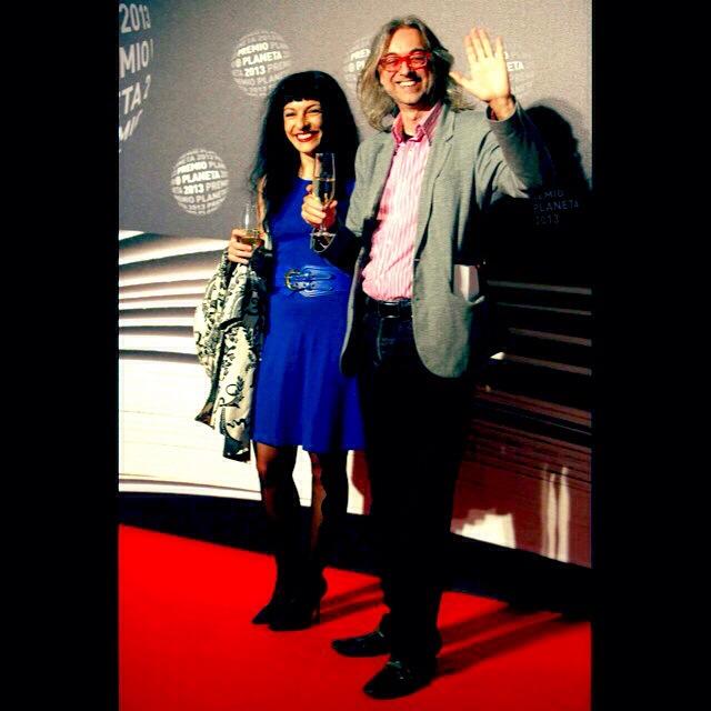 victor amela y roser amills photocall premio planeta 2013