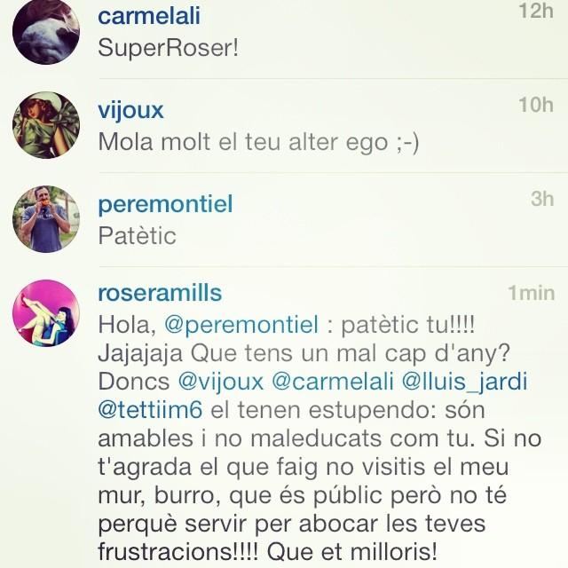 conversacion instagram roser amills