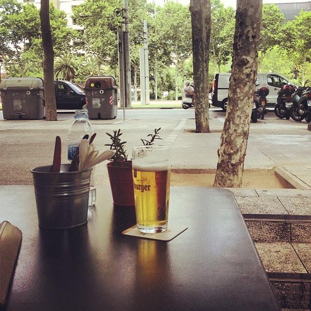 cerveza con buenas vistas barcelona